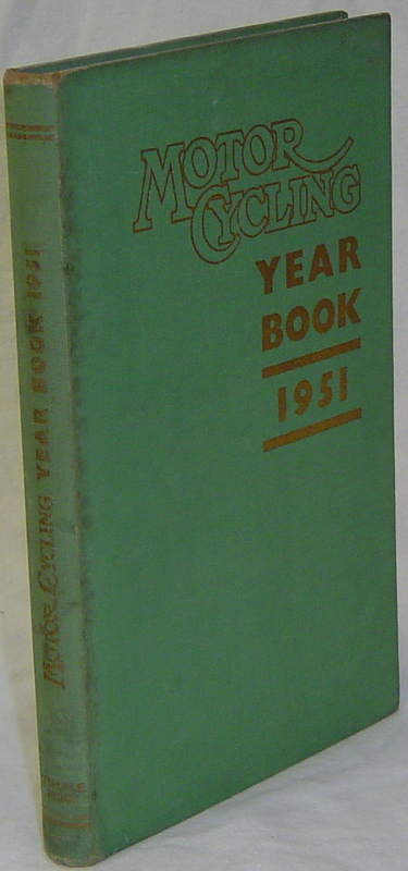 MOTOR CYCLING YEAR BOOK 1951. CHAMBERLAIN Peter.