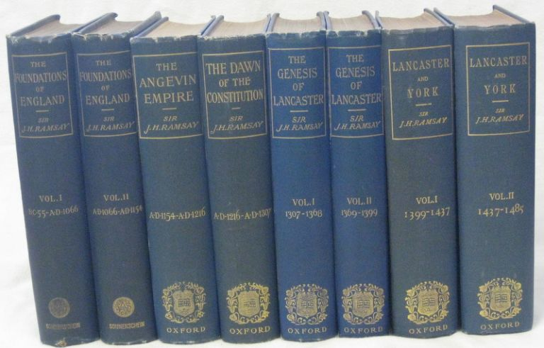 THE SCHOLAR'S HISTORY OF ENGLAND (8 Vols). RAMSAY Sir James H.