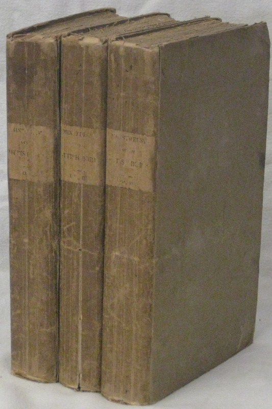 MINSTRELSY OF THE SCOTTISH BORDER: Consisting of Historical and Romantic Ballads (3 Vols) Collected in the Southern Counties of Scotland; with a few of Modern Date, Founded upon Local Tradition. SCOTT Sir Walter.