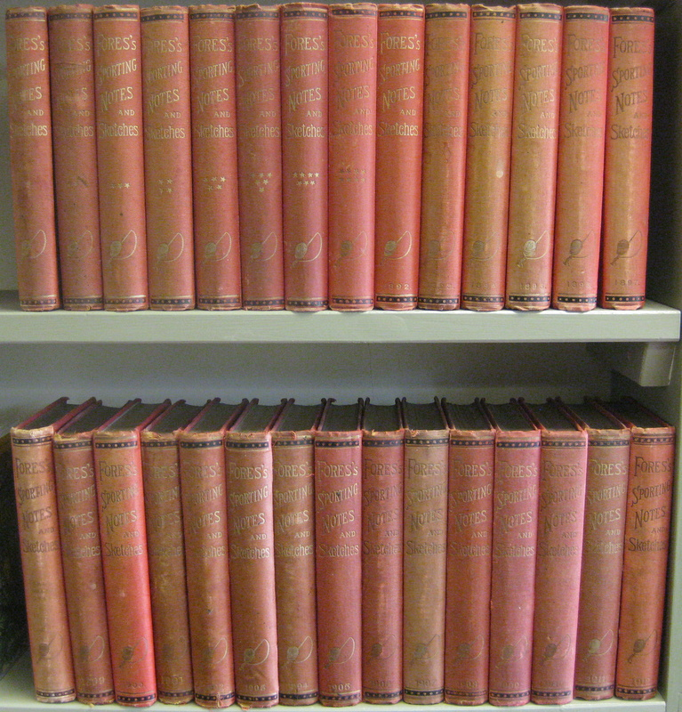FORES'S SPORTING NOTES & SKETCHES: A QUARTERLY MAGAZINE DESCRIPTIVE OF DESCRIPTIVE OF BRITISH AND FOREIGN SPORT (29 Vols). MESSRS. FORES.
